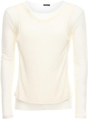 Ann Demeulemeester Sheer Wool Blend Sweater