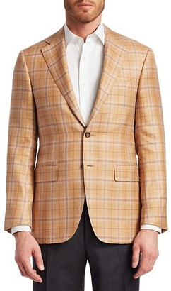 Canali Cashmere-Blend Check Jacket