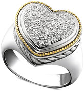 Effy Balissima by Diamond Diamond Heart Ring (1/5 ct. t.w.) in 18k Gold and Sterling Silver