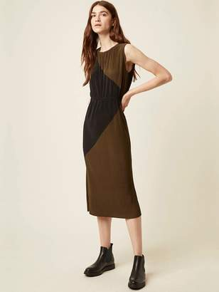 Great Plains Marnie Dress In Dark Olive And Black - 10