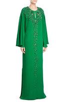 Emilio Pucci Embellished Silk Maxi Dress