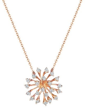 Hueb Luminus 18K Rose Gold & Diamond Necklace