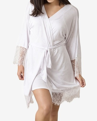 Express Honeydew Intimates Lovely Day Lace Robe