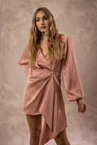 Thumbnail for your product : Keepsake PASSION LONG SLEEVE MINI DRESS Maple