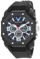U.S. Air Force Men's Analog-Digital Chronograph Black Silicone Strap Watch by Wrist Armor F3/1011