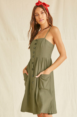 Forever 21 Button-Front Cami Mini Dress