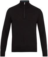Paul Smith High-neck half-zip wool sweater