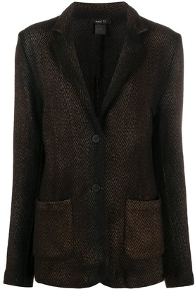 Avant Toi Single-Breasted Patterned Blazer