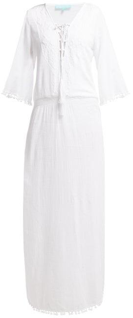 Melissa Odabash Kari Side Slit Cotton Voile Maxi Dress - Womens - White