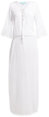 Melissa Odabash Kari Side-slit Cotton-voile Maxi Dress - Womens - White