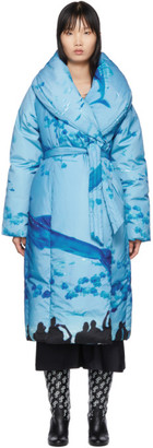 Saks Potts SSENSE Exclusive Blue Sauna Puffer Coat