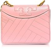 Tory Burch Alexa Dark Pink Quartz Leather Mini Shoulder Bag