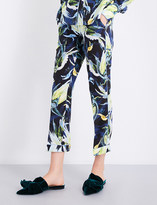 Erdem Giulia relaxed-fit mid-rise silk-crepe de chine trousers