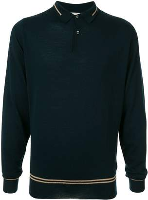 John Smedley long-sleeved polo shirt