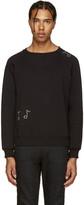 Saint Laurent Black Crystal Embellished Sweatshirt