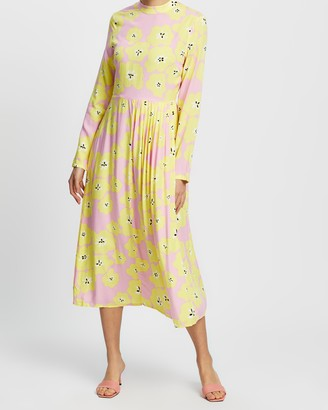 NEVER FULLY DRESSED Floral Swedish Midi Dress