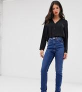Asos Tall DESIGN Tall Farleigh high waisted slim mom jeans in rich blue