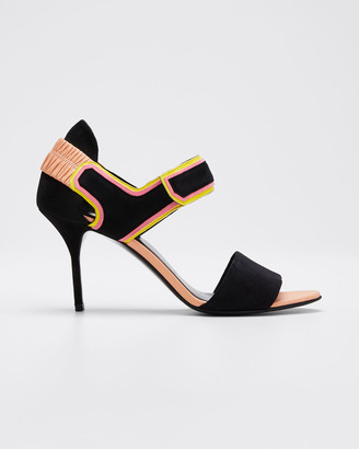 Pierre Hardy Trixi Colorblock Heel Sandals