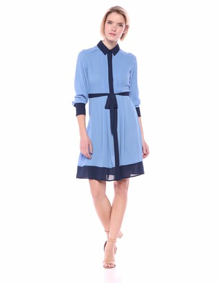 Nanette Lepore Nanette Women's Color-Blocked Shirtdress W/H