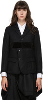 Thumbnail for your product : Comme des Garçons Comme des Garçons Navy Velvet Strip Blazer