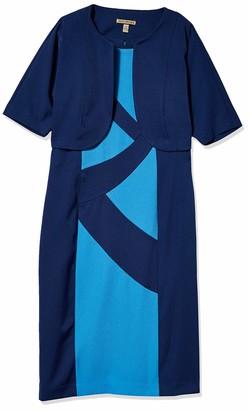 Maya Brooke Women's Color-Block Printed Dress w Jacket