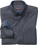 Johnston & Murphy Dotted Square-Print Denim Shirt