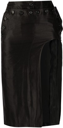 Ann Demeulemeester Cut-Out Fitted Skirt