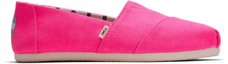 Toms Neon Pink Canvas Women's Classics Venice Collection