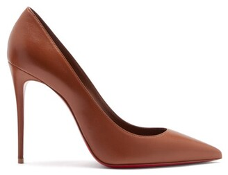 Christian Louboutin Kate 100 Leather Pumps - Mid Nude