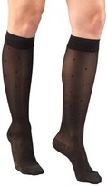 Truform Women's Stockings, Knee High, Sheer, Dot Pattern: 15-20 mmHg, Black, Small