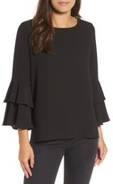Gibson Women's Ruffle Bell Sleeve High/low Tunic
