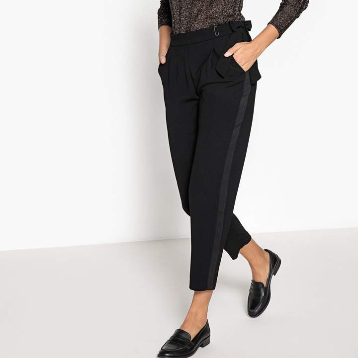 Suncoo Cropped Trousers with Side Stripe