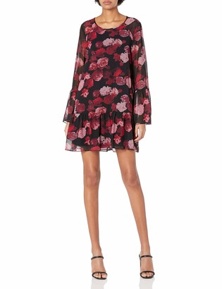 BCBGeneration Women's Floral Double Tiered A-line Dress