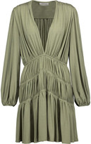 Zimmermann Adorn Gathered Stretch-Jersey Mini Dress