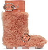 Miu Miu Pink Eco Shearling Moon Boots