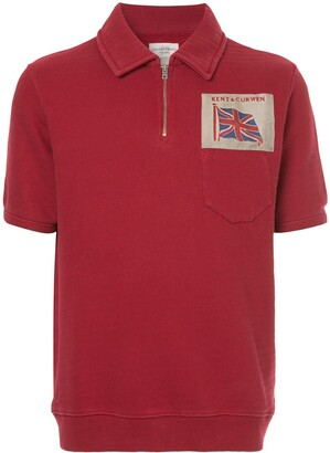 Kent & Curwen Embroidered Flag Polo Shirt