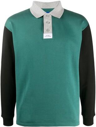 Rassvet Colour Block Long-Sleeved Polo Shirt