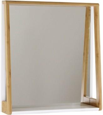 Lloyd Pascal Denver Bathroom Mirror with Shelf - Natural & White