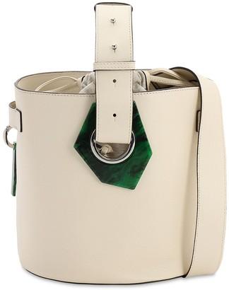 Ganni Grained Leather Bucket Bag
