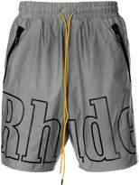 Rhude logo-print swimming trunks