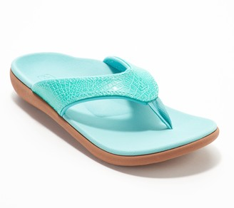 Spenco Orthotic Thong Sandals - Yumi Croco