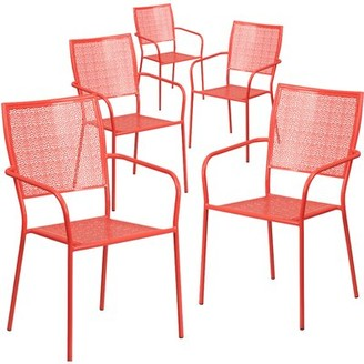 Flash Furniture Stackable Dining Chair Flash Furniture Finish: Red