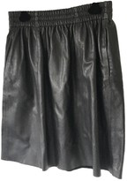 Rika Black Leather Skirt for Women
