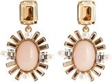 Oscar de la Renta Oval crystal-embellished earrings