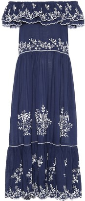 Juliet Dunn Exclusive to Mytheresa Embroidered cotton midi dress