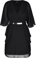 City Chic Black Wrap Dress