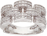 Sterling Silver Diamond Cut Ring by Silver Style