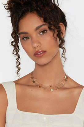 Nasty Gal Womens Orion's Belt Star Choker Necklace - Metallics - ONE SIZE, Metallics