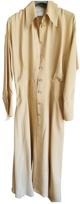 Emmanuelle Khanh Beige Cotton Dress for Women