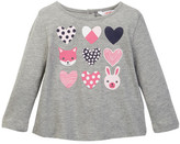 Joe Fresh Printed Top (Baby Girls 12-24M)